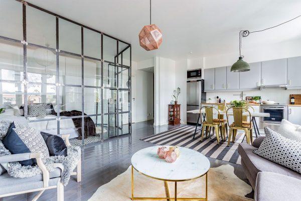 灰白色优雅北欧风格家居装修设计